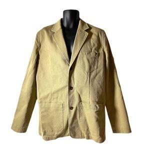 The Territory Ahead Khaki Cotton Blazer Jacket